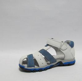 b6abe738dc1 Детски сандали Chippo естествена кожа бяло/синьо 26/31