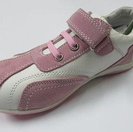cb13bf5fc36 Спортни детски обувки CHIPPO от естествена кожа бяло/розово